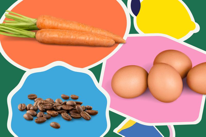 carrot-egg-coffeebean